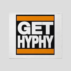 get hyphy lg orange Throw Blanket