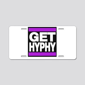 get hyphy lg purple Aluminum License Plate