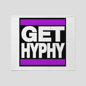 get hyphy lg purple Throw Blanket