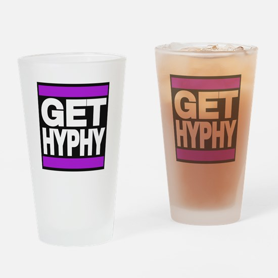 get hyphy lg purple Drinking Glass