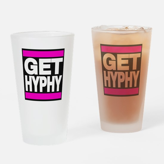 get hyphy lg pink Drinking Glass