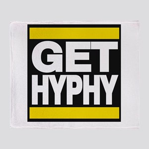 get hyphy lg yellow Throw Blanket