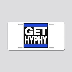 get hyphy lg blue Aluminum License Plate