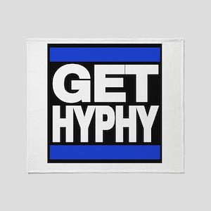 get hyphy lg blue Throw Blanket