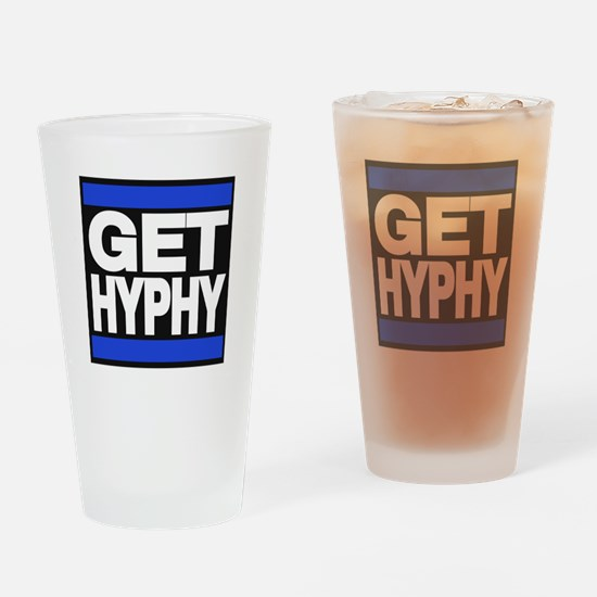 get hyphy lg blue Drinking Glass