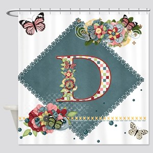 Dreamland Monogram D Shower Curtain