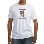 Cute Pit Bull Warning Fitted T-Shirt