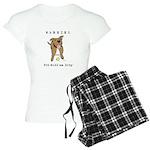 Cute Pit Bull Warning Women's Light Pajamas