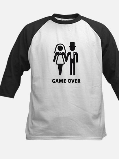 Game Over (Wedding / Marriage) Kids Baseball Jerse