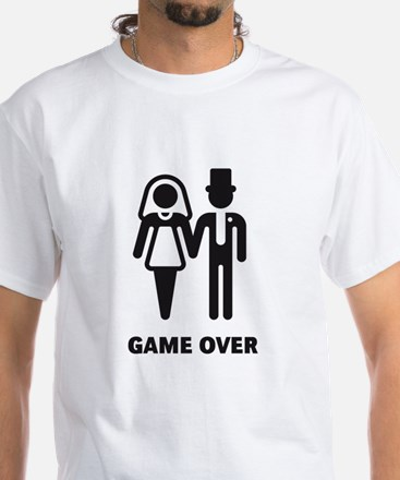 Game Over (Wedding / Marriage) White T-Shirt