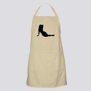 Sexy woman in heels on the floor Apron