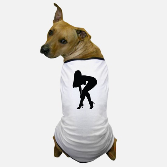 Sexy woman in heels bending over Dog T-Shirt