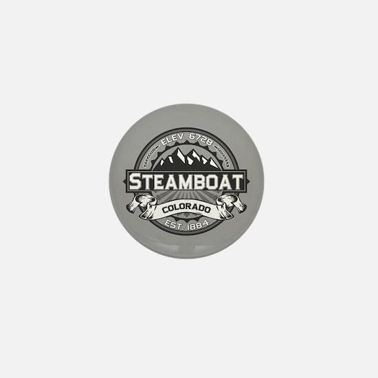 Steamboat Grey Mini Button