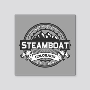"Steamboat Grey Square Sticker 3"" x 3"""