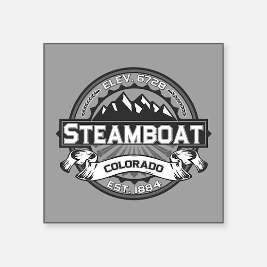 "Steamboat Grey Square Sticker 3"" x 3"""