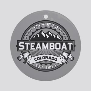 Steamboat Grey Ornament (Round)