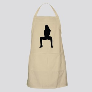 Sexy woman squatting Apron