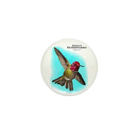 Anna;s Hummingbird Mini Button