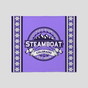 Steamboat Violet Throw Blanket