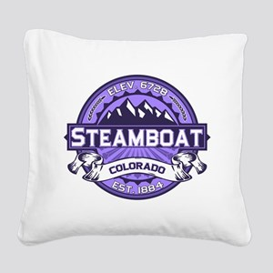 Steamboat Violet Square Canvas Pillow