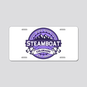 Steamboat Violet Aluminum License Plate