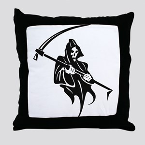 Death and Scythe Throw Pillow