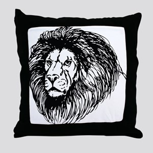 lion - king of the jungle Throw Pillow