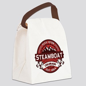 Steamboat Red Canvas Lunch Bag