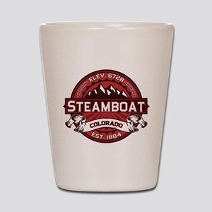 Steamboat Red Shot Glass