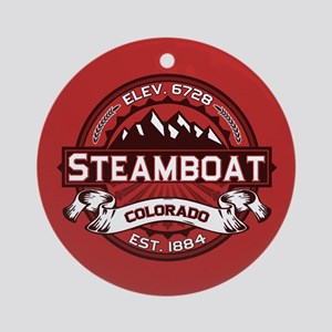 Steamboat Red Ornament (Round)