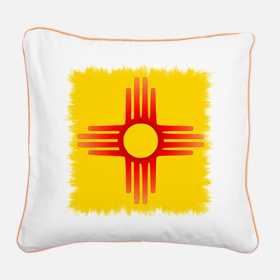 Zia Sun Symbol Square Canvas Pillow