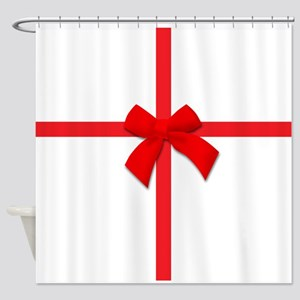 Ribbon Bow Shower Curtain