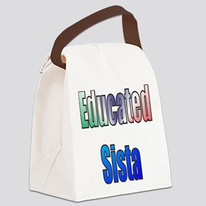 Educated Sista 1 Canvas Lunch Bag