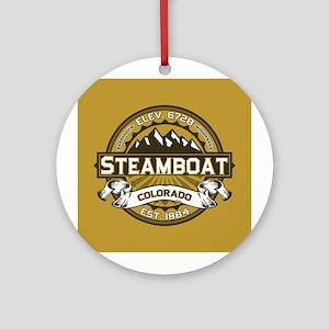 Steamboat Tan Ornament (Round)