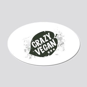Crazy Vegan Wall Decal