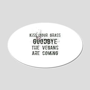Kiss Your Grass Goodbye Vegan Wall Decal