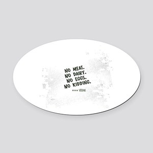No meat Vegan Oval Car Magnet