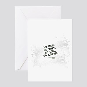 No meat Vegan Greeting Card