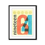 Nineteen 64 Framed Panel Print