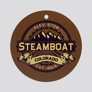 Steamboat Sepia Ornament (Round)