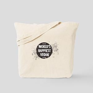 Worlds Happiest Vegan Tote Bag