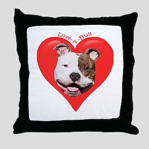 Pit Bull 19 Throw Pillow