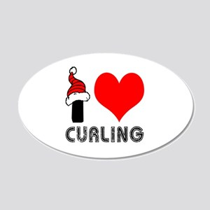 I Love Curling 20x12 Oval Wall Decal