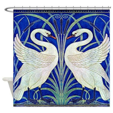 THE SWANS Shower Curtain By Jackson SQ