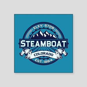 "Steamboat Ice Square Sticker 3"" x 3"""