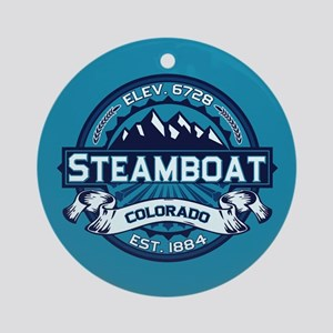 Steamboat Ice Ornament (Round)