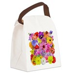 Eileen's Multifloral Canvas Lunch Bag