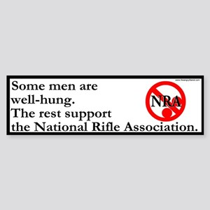 """The Size of the NRA"" Bumpersticker."