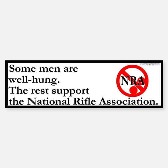 """""""The Size of the NRA"""" Bumpersticker."""