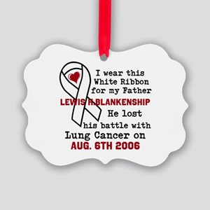 Personalize Name and Date Picture Ornament